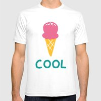 COOL Mens Fitted Tee White SMALL