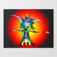 Dekari Warrior Canvas Print