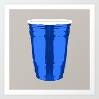 CLARITY CUP BLUE (BIG) Art Print