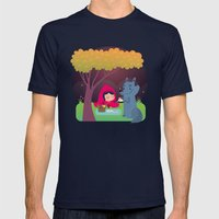 Picnic Mens Fitted Tee Navy SMALL