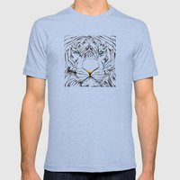 The White Tiger Mens Fitted Tee Tri-Blue SMALL