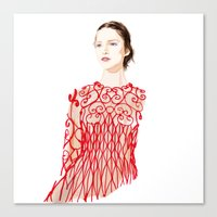 Valentino Red Canvas Print