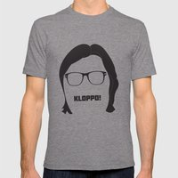 Kloppo Mens Fitted Tee Tri-Grey SMALL
