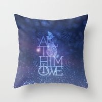 All to Him I owe Throw Pillow