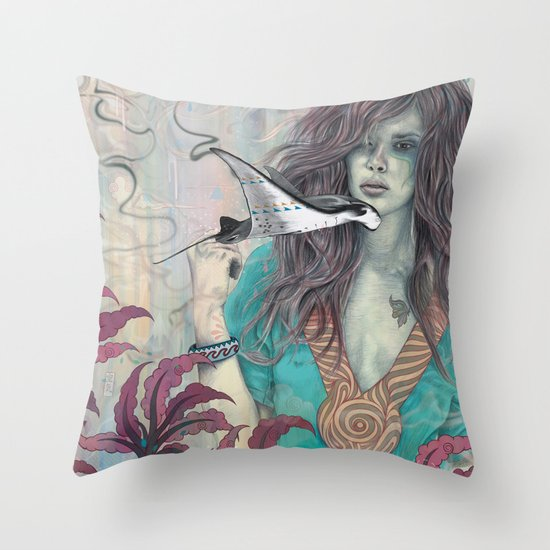 Solid Air Throw Pillow