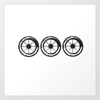 wheels 3x Art Print