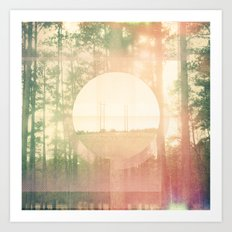 opposite poles attract Art Print