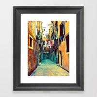 Laundry And Door Framed Art Print