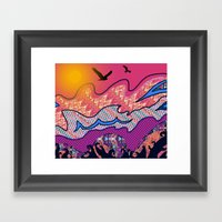 Over The Pink Sea Framed Art Print