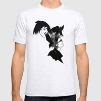 Freedom for my crows... Mens Fitted Tee Ash Grey SMALL