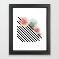 Watercolor Floral With S… Framed Art Print