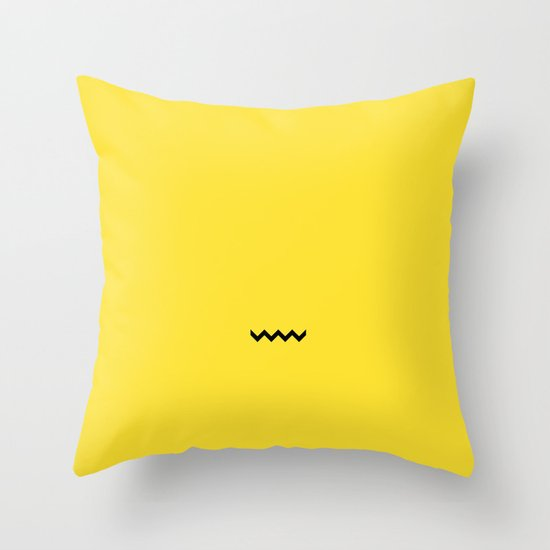 Charile Brown Throw Pillow