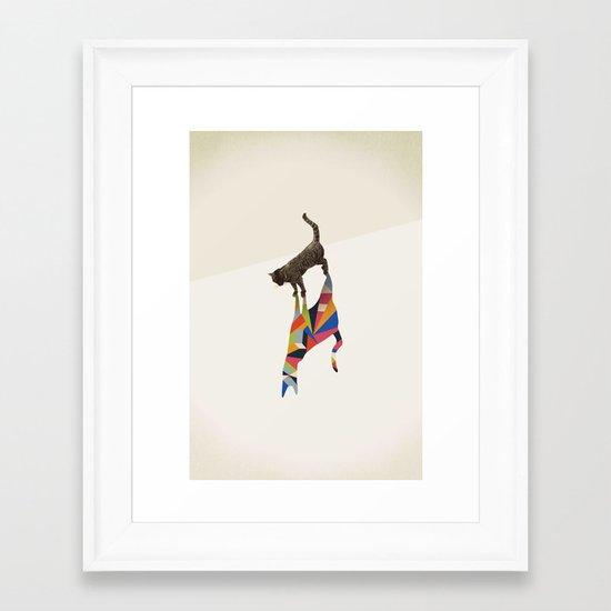 Walking Shadow, Cat Framed Art Print