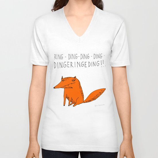 What does the fox say??? V-neck T-shirt