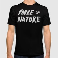 Force Of Nature Mens Fitted Tee Black SMALL
