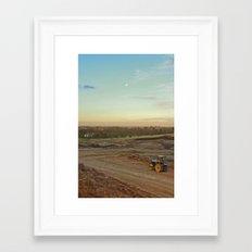 Dirt Moon Sunset Framed Art Print