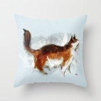 Ode To My Cat Throw Pillow