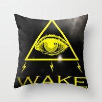 WAKE - TRI Throw Pillow