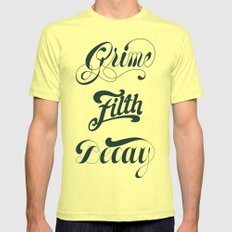 Grimey Type. Mens Fitted Tee Lemon SMALL