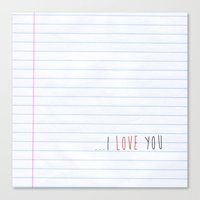 ...I Love You Canvas Print