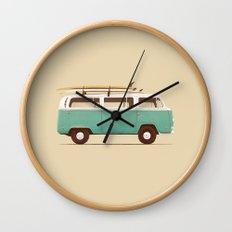 Blue Van Wall Clock