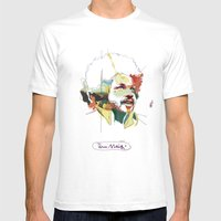Tim Maia Mens Fitted Tee White SMALL