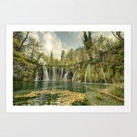 Plitvice Falls  Art Print