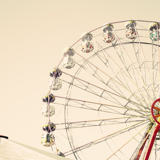 Ferris Wheel on Cream sky Art Print