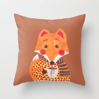 Winter Season is Coming (Fox Version) Throw Pillow