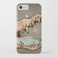 animal skull iPhone & iPod Cases featuring Animal Skull and birds by Paula Belle Flores