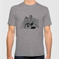 Japanese School Girls  Mens Fitted Tee Athletic Grey SMALL