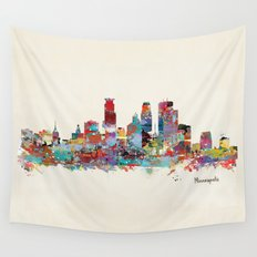 Minneapolis Minnesota skyline Wall Tapestry
