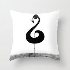 Musical Flamingo Throw Pillow