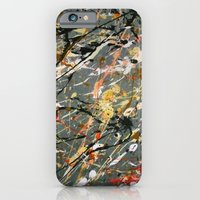 Jackson Pollock Interpretation Acrylics On Canvas Splash Drip Action Painting iPhone 6 Slim Case