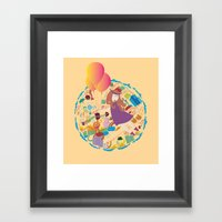 Ambrosia With Balloon Framed Art Print