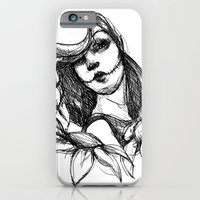 iPhone & iPod Case featuring Skull Girl by Mary Bowen