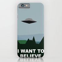 iPhone & iPod Case featuring I Want To Believe minimal by Bill Pyle