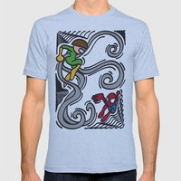 FUN - Spiderman Mens Fitted Tee Athletic Blue SMALL