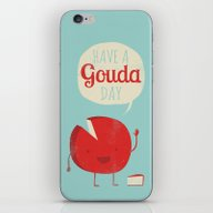 iPhone & iPod Skin featuring Have A Gouda Day by Muddybeats