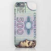 500 lire money note  iPhone 6 Slim Case