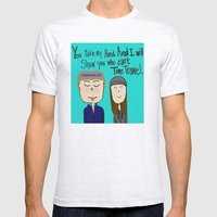 I will show you who can't time travel Mens Fitted Tee Ash Grey SMALL