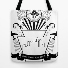 Don't Forget Your Roots (black) Tote Bag