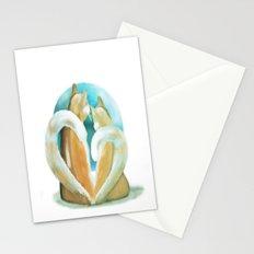 Fluffy love Stationery Cards