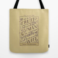 Jane Austen Covers: Pride and Prejudice Tote Bag