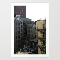 CITY VIEW Art Print