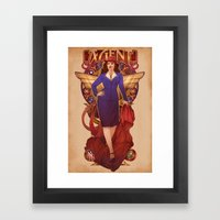 Call Me Agent Framed Art Print