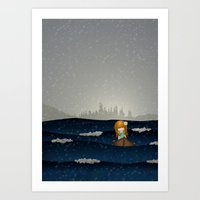 Cicily To The Sea Art Print