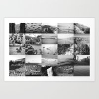 Black And White World Art Print