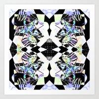 Graphic Zebra  Art Print