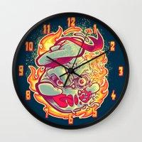 ROASTED MARSHMALLOW MAN Wall Clock